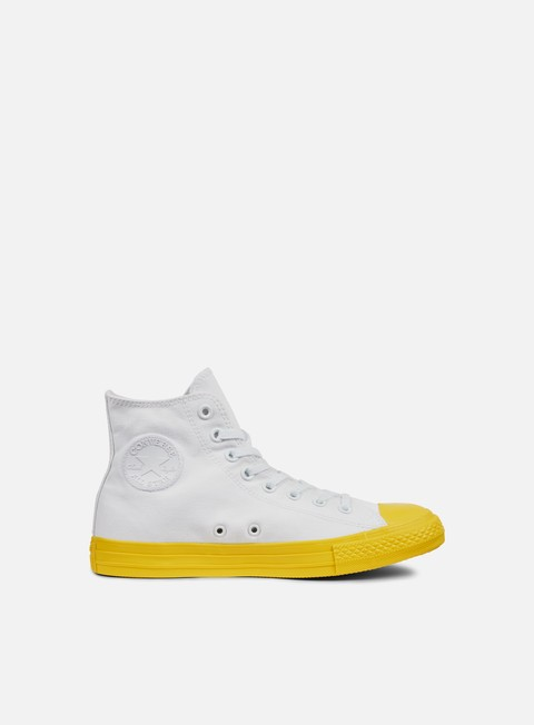 sneakers converse all star hi canvas white aurora yellow black