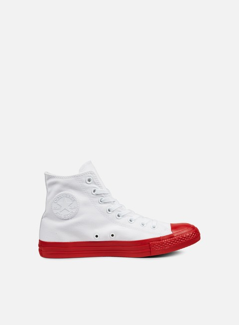 sneakers converse all star hi canvas white casino black