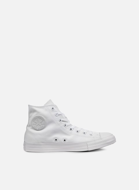 sneakers converse all star hi canvas white monochrome