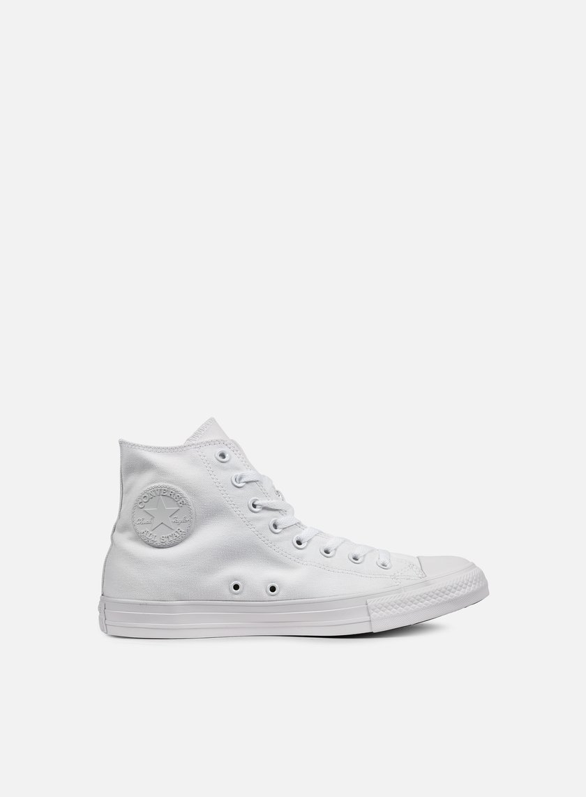 Converse - All Star Hi Canvas, White Monochrome