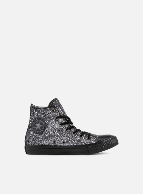 sneakers converse all star hi glitter brunito black thunder