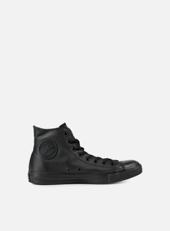 Converse - All Star Hi Leather, Black Monochrome