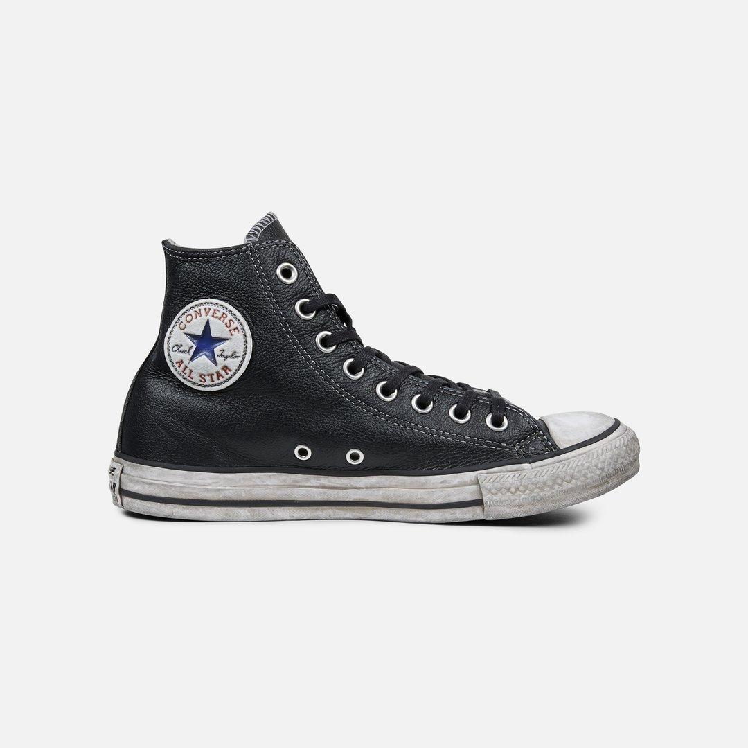 Converse All Star Hi Leather Ltd, Black Smoke | Graffitishop