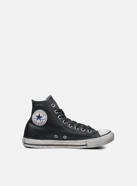 sneakers converse all star hi leather ltd black smoke