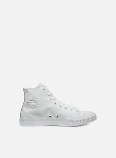 Converse - All Star Hi Leather, White Monochrome