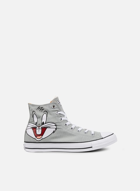 sneakers converse all star hi looney tunes bugs grey white