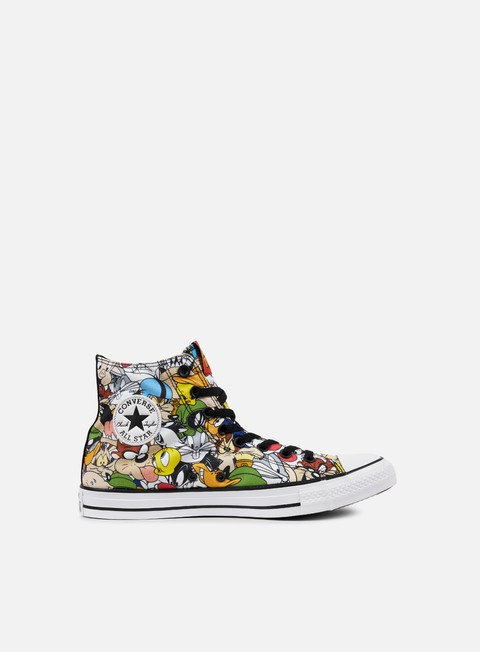 sneakers converse all star hi looney tunes multicolor white black