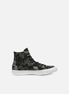 Converse - All Star II Hi Tencel Canvas Print, Charcoal/Black 1