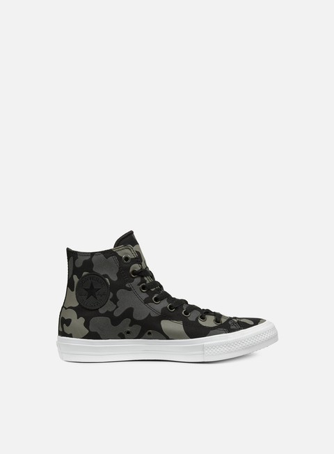 sneakers converse all star ii hi tencel canvas print charcoal black