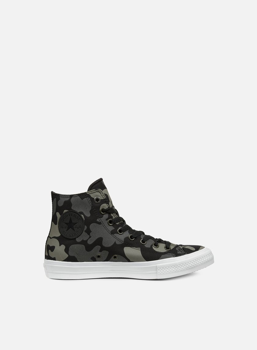 Converse - All Star II Hi Tencel Canvas Print, Charcoal/Black