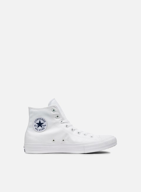 sneakers converse all star ii hi tencel canvas white white navy