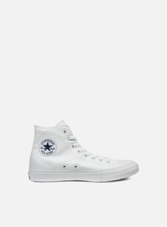 Converse - All Star II Hi Tencel Canvas, White/White/Navy 1
