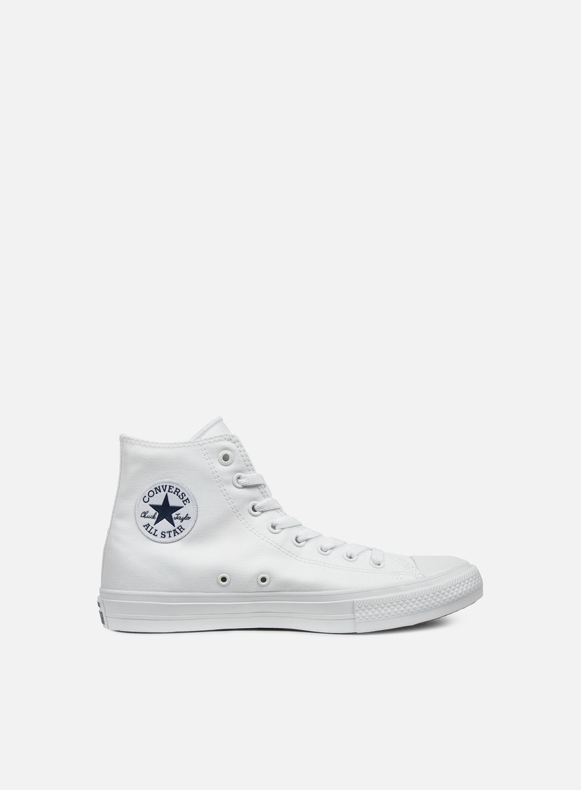 Converse - All Star II Hi Tencel Canvas, White/White/Navy