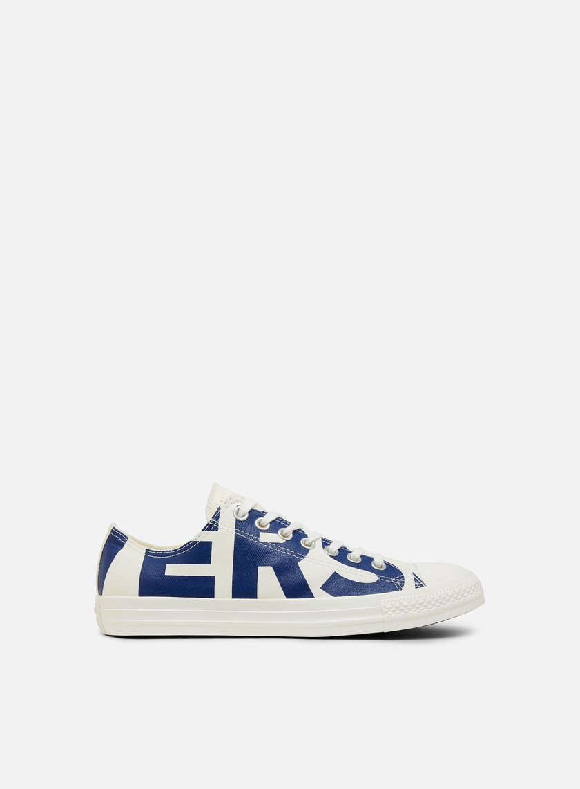 Converse - All Star Ox Canvas, Natural/Blue/Egret - Sneakers