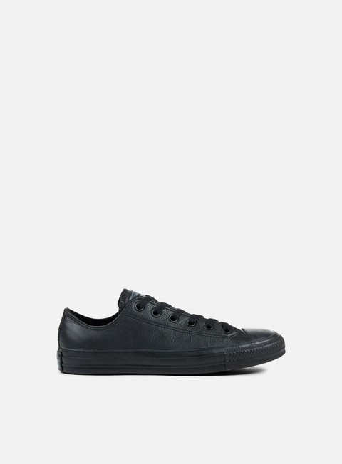 sneakers converse all star ox leather black monochrome