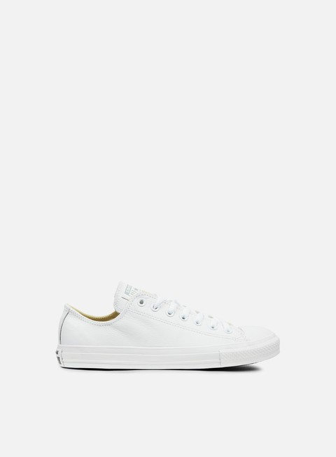sneakers converse all star ox leather white monochrome