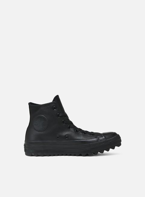 Converse All Star OX Lift Hi Ripple Leather