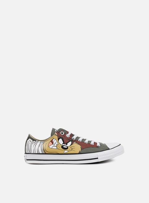 sneakers converse all star ox looney tunes olive submarine white black