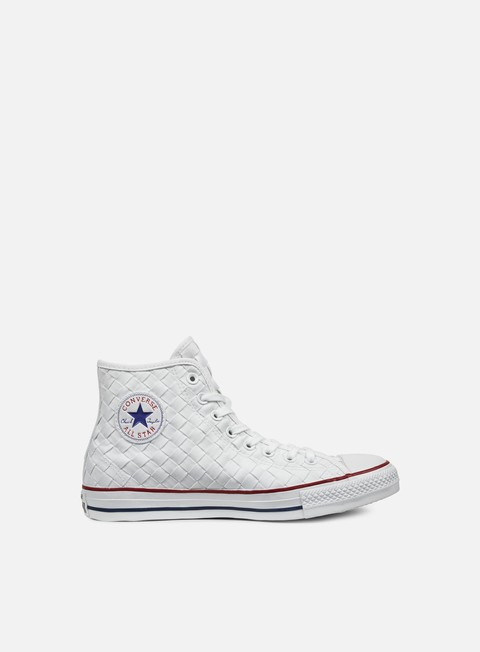 sneakers converse all star premium hi canvas woven white red white