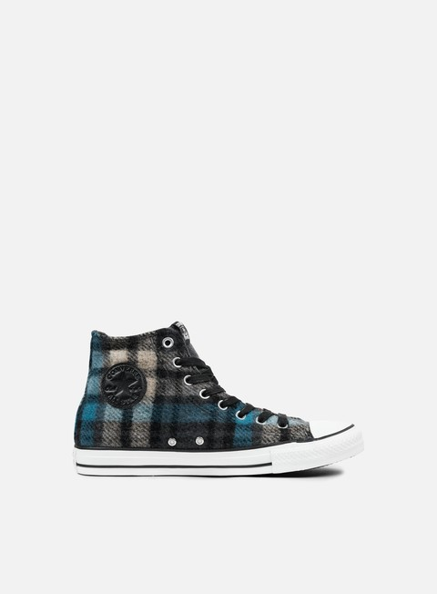 sneakers converse all star premium hi woolrich black papyrus cyan