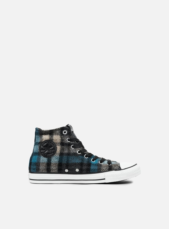 Converse - All Star Premium Hi Woolrich, Black/Papyrus/Cyan