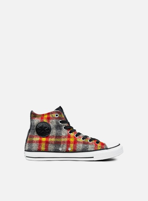 sneakers converse all star premium hi woolrich casino yellow bird