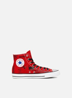 Converse - All Star Pro Hi, Enamel Red/Black/White