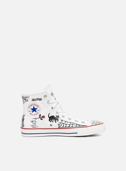 sneakers converse all star pro hi white black white