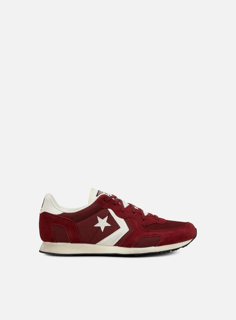 sneakers converse auckland racer ox nylon suede maroon off white
