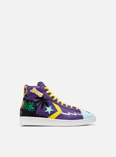 Converse Chinatown Market Lakers Championship Jacket Pro Leather Hi