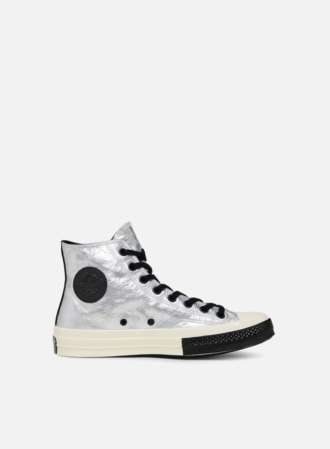 Outlet e Saldi Sneakers Alte Converse Chuck 70 Flight School Leather Hi