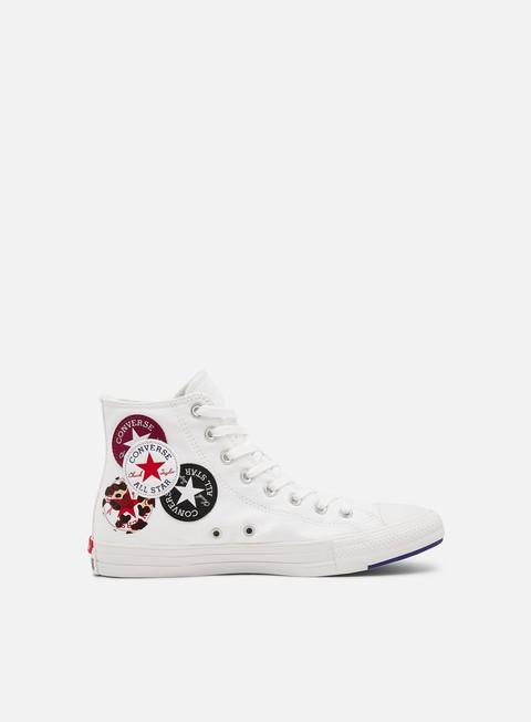 Outlet e Saldi Sneakers Alte Converse Chuck 70 Logo Play Hi