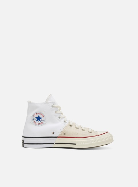 Outlet e Saldi Sneakers Alte Converse Chuck 70 Reconstructed Canvas Hi