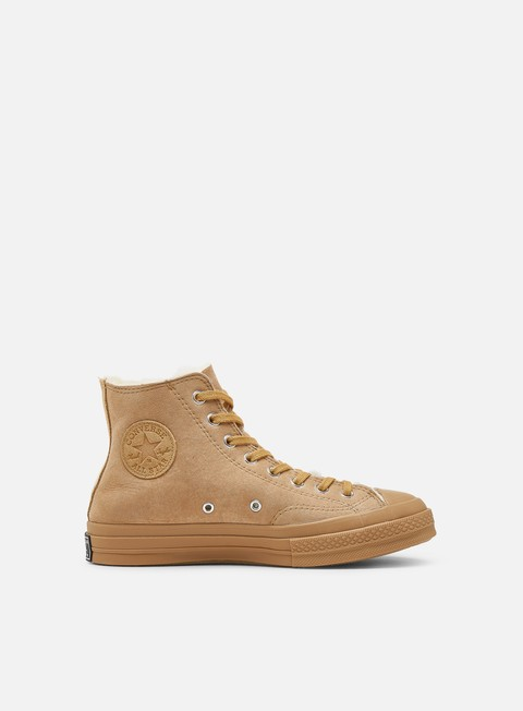 Converse Chuck 70 Shearling Suede Hi, Iced Coffee | Graffitishop