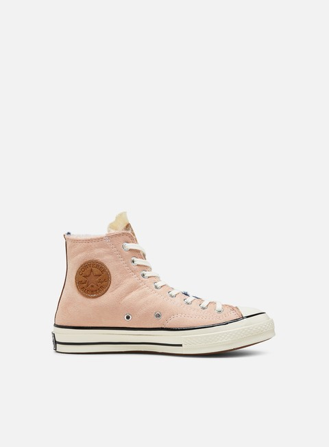 Outlet e Saldi Sneakers Alte Converse Chuck 70 Shearling Suede Hi