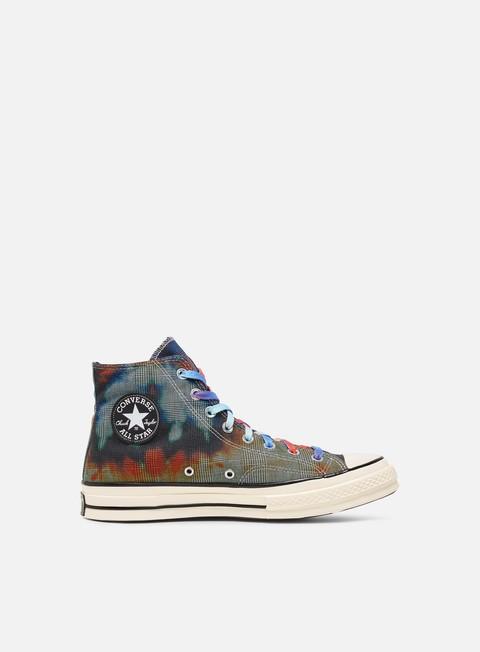 High Sneakers Converse Chuck 70 Tie Dye Plaid Hi