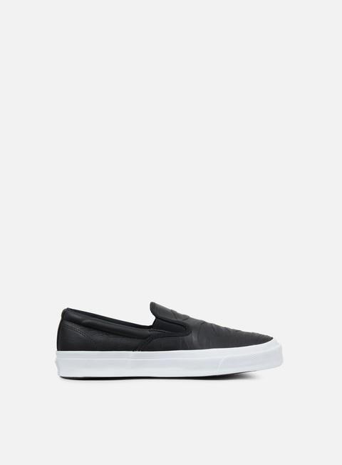 sneakers converse deckstar sp slip black black white