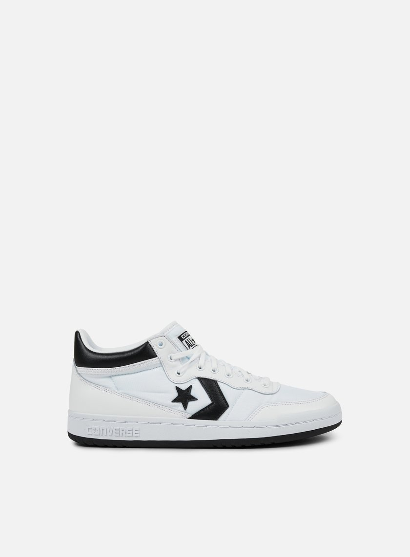 Converse - Fastbreak 83 Mid, White/Black/White