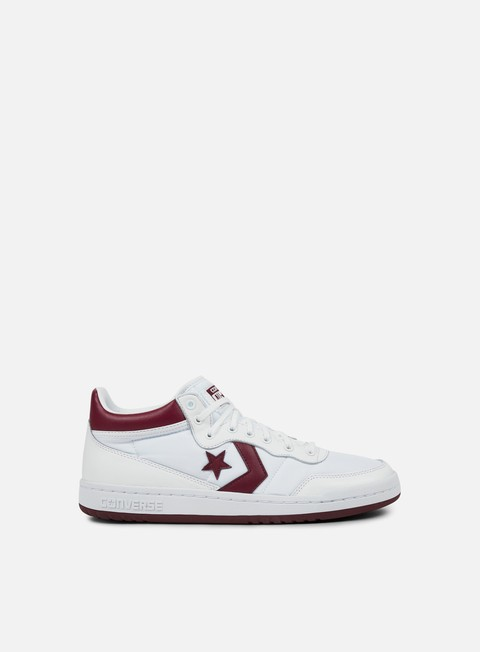 sneakers converse fastbreak 83 mid white deep bordeaux white
