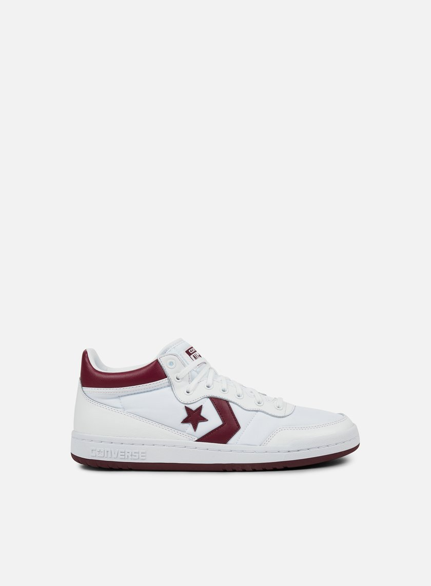 Converse - Fastbreak 83 Mid, White/Deep Bordeaux/White