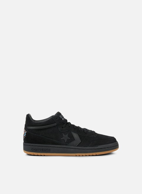 sneakers converse fastbreak mid black black gum