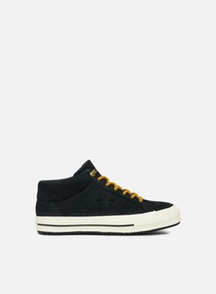 Converse - Fastbreak Mid Leather, Black/Almost Black/Egret
