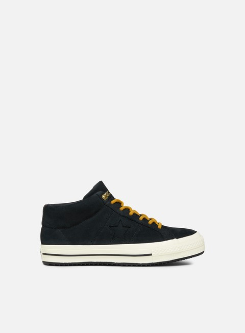 sneakers converse fastbreak mid leather black almost black egret
