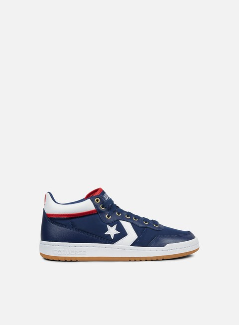sneakers converse fastbreak pro mid navy white enamel red