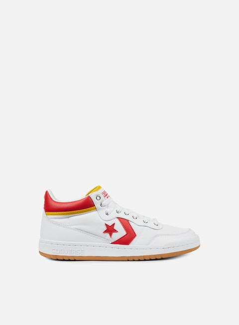 sneakers converse fastbreak pro mid white enamel red