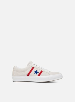 Converse - One Star Academy Ox Suede Low, White/Enamel Red/Blue