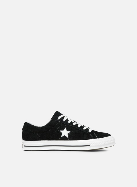 sneakers converse one star ox og suede black white white