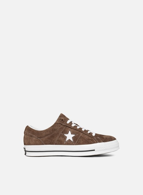 sneakers converse one star ox suede chocolate white white
