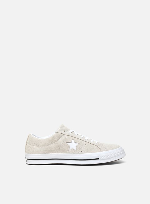 sneakers converse one star ox white white white