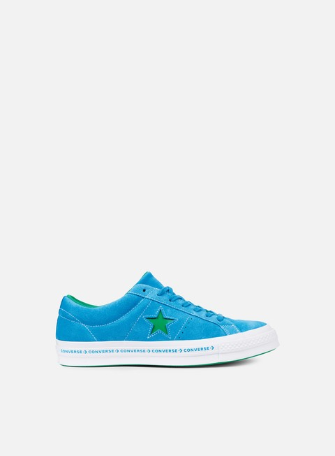 sneakers converse one star pinstripe ox hawaiian ocean jolly green white